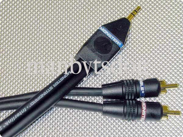 monster cable jm repc m audio cable mini jack to rca ebay. Black Bedroom Furniture Sets. Home Design Ideas